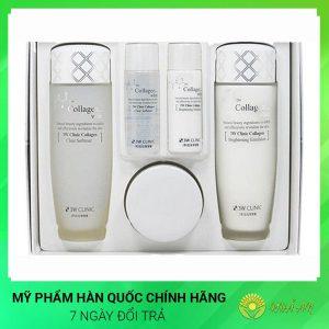 Bộ 3 dưỡng trắng da Collagen White Skin Care Items 3 Set Hàn Quốc Chính Hãng