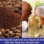 Cách trị thâm mông tự nhiên cho nữ bằng cà phê và dầu dừa