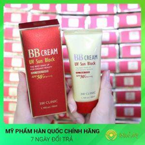 Kem nền trang điểm chống nắng BB Cream UV Sun Block Hàn Quốc Chính Hãng
