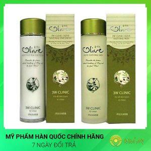 Nước hoa hồng tinh chất dầu Olive Natural Skin Hàn Quốc Chính Hãng