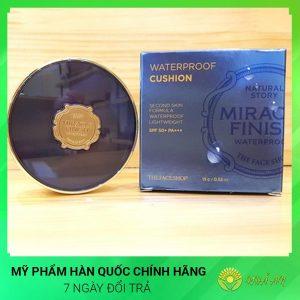 Phấn nước không trôi The Face Shop Finish Waterpoof Cushion Hàn Quốc Chính Hãng