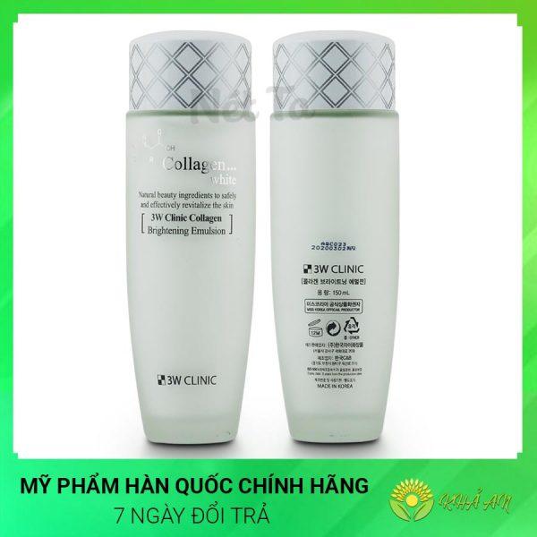 Sữa dưỡng trắng da Collagen White Brightening Emulsion Hàn Quốc Chính Hãng