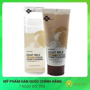 Sữa rửa mặt sữa dê Goat Milk Vitamin Scrub Foam Cleansing Hàn Quốc Chính Hãng