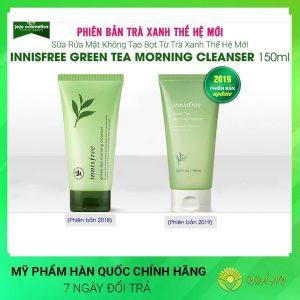 Sữa rửa mặt trà xanh Innisfree Green tea foam cleanser Hàn Quốc Chính Hãng