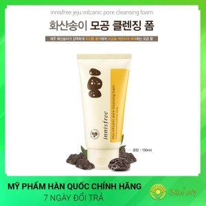 Sữa rửa mặt trắng da INNISFREE tro núi lửa Hàn Quốc Chính Hãng