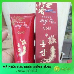 Sữa rửa mặt trắng da mịn da sâm đỏ My Gold Hàn Quốc Chính Hãng