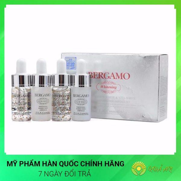 Tinh chất dưỡng trắng da BERGAMO WHITE AMPOULE Hàn Quốc Chính Hãng
