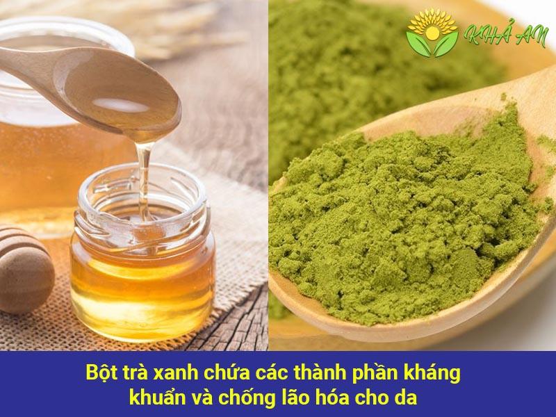Cách trị thâm nách nặng bằng bột trà xanh và mật ong