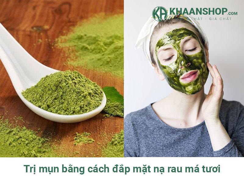 Trị mụn bằng cách đắp mặt nạ rau má tươi